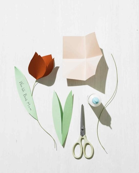 Last Minute Geschenk Muttertag Bastelideen aus Papier