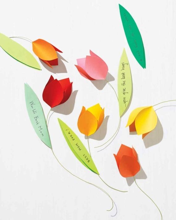 Last Minute Geschenk Muttertag Papierblumen