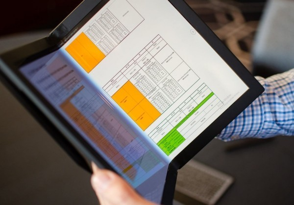 Lenovo arbeitet an einem ThinkPad X1 PC mit faltbarem Display booklet büchlein ideal zum lesen