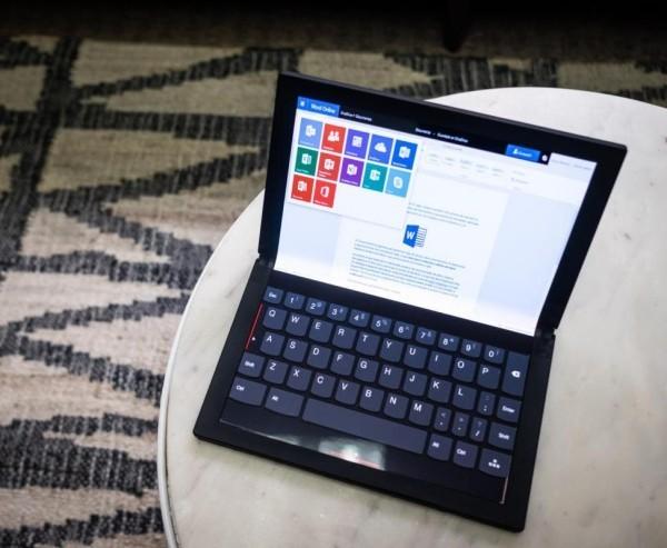 Lenovo arbeitet an einem ThinkPad X1 PC mit faltbarem Display notebook zum tippen digital