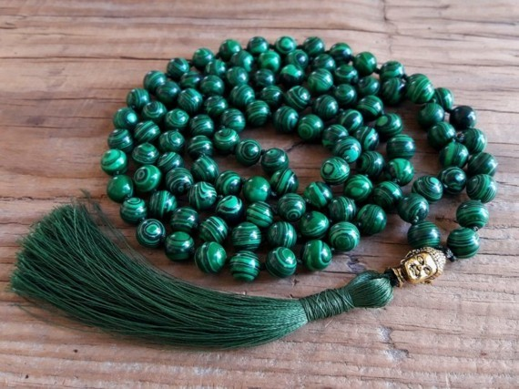 Mala Kette Halbedelsteinen Japa Meditaion