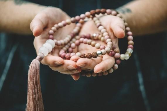 Mala Kette Japa Meditaion Mala Kette mit Quaste