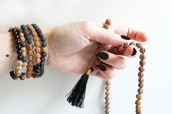 Mala Kette Rudrakscha Mala Japa Meditaion