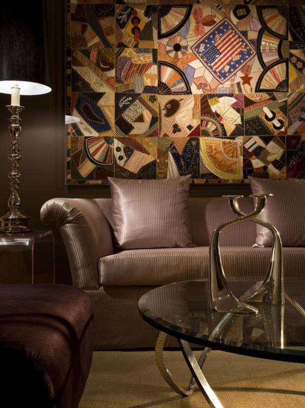 Maskulin und elegant modernes Wohnzimmer männliches Interieur sexy Statement-Wand
