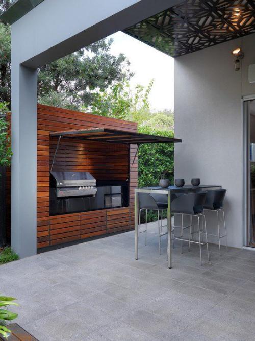Outdoor Küche perfektes modernes Design Überdachung angenehmes Verweilen unter freiem Himmel