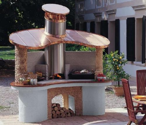 Outdoor Küche sehr interessantes ausgefallenes individuelles Design