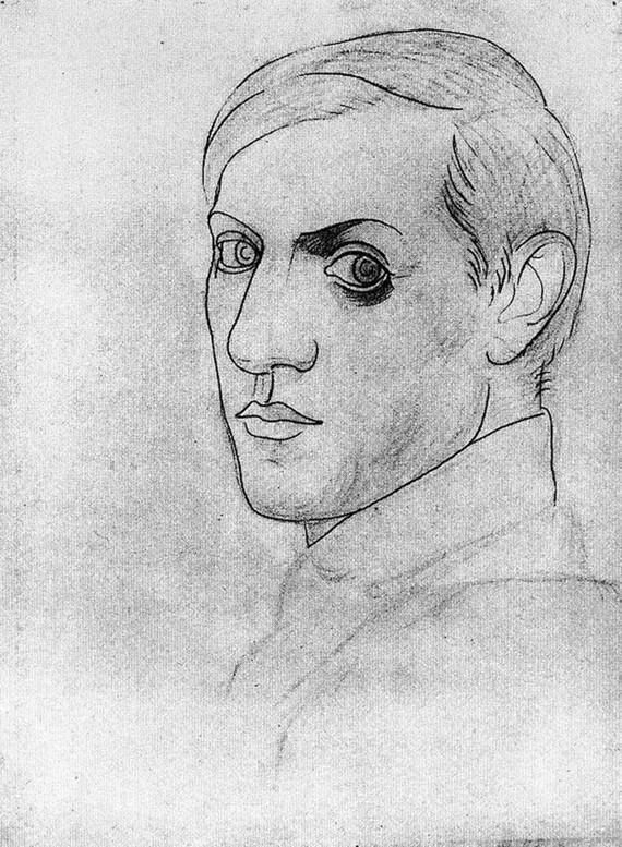 Pablo Picasso Selbstporträt 1917