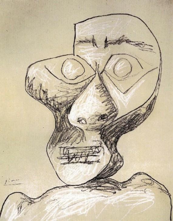 Pablo Picasso Selbstporträt 1972 02 Juli