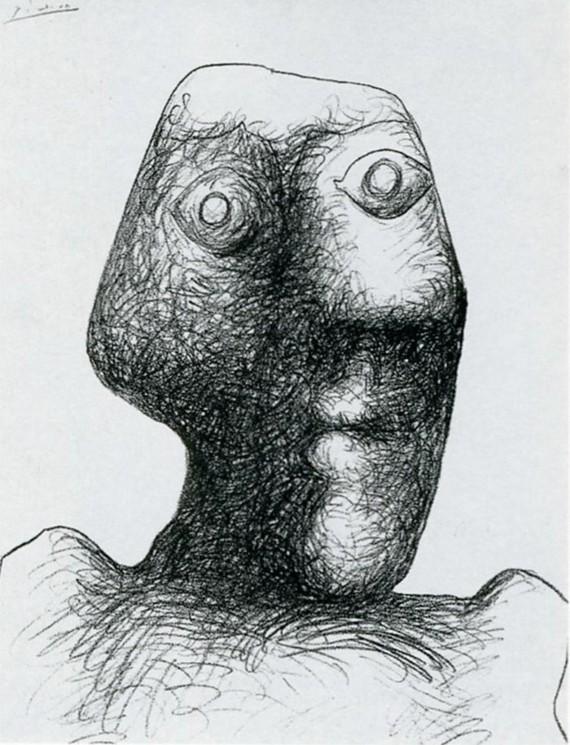 Pablo Picasso Selbstporträt 1972 03 Juli