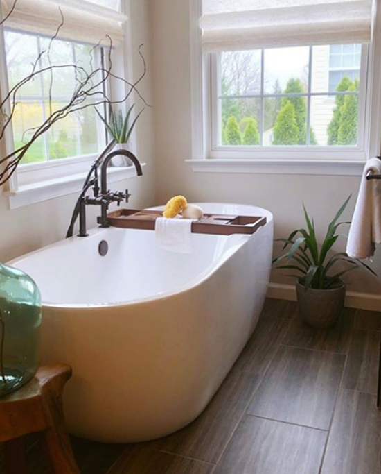 Pflanzen fürs Bad Aloe Vera auf dem Fensterbrett Badewanne noch eine grüne Pflanze