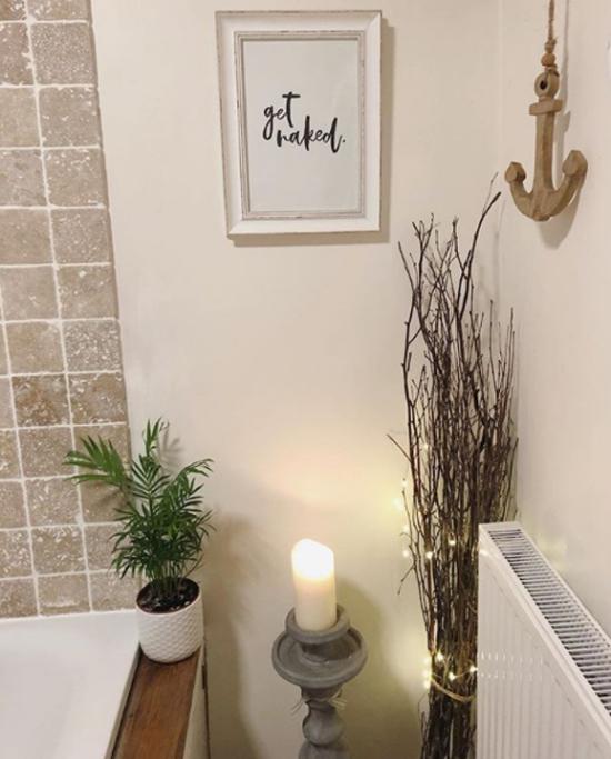 Pflanzen fürs Bad Bergpflanze weiße Kerze Zweige