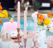 Zeitlose und romantische Tischdeko mit Rosen