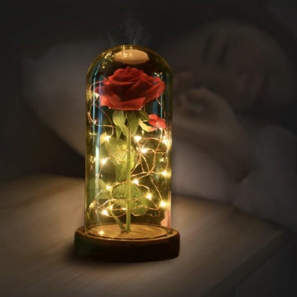 Rose im Glas das schönste Symbol für ewige Liebe