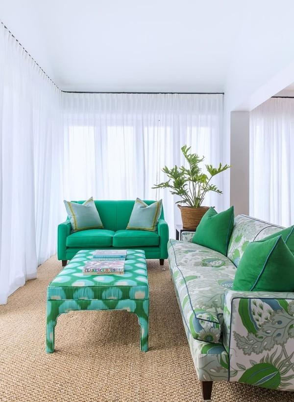 art deco grüne möbelgestaltung