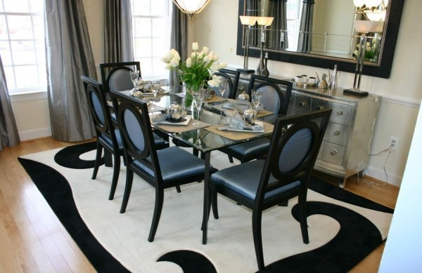 art deco tolles design in schwarz und weiß