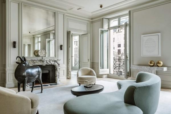 art deco tolles luxus-wohnzimmer
