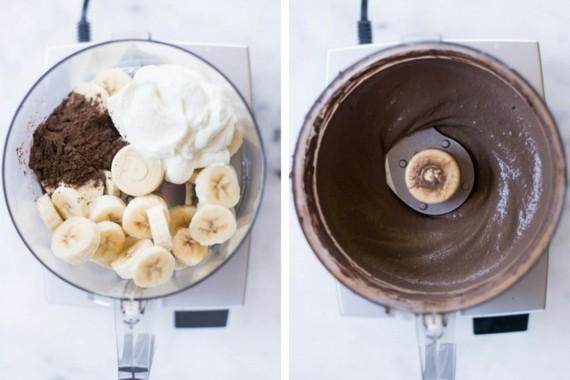 cremiges Joghurteis selber machen Schoko Frozen Joghurt Rezept ohne Eismaschine