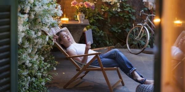 entspannter nachmittag lounge sessel