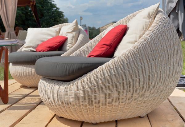 gestricktes tolles design lounge sessel