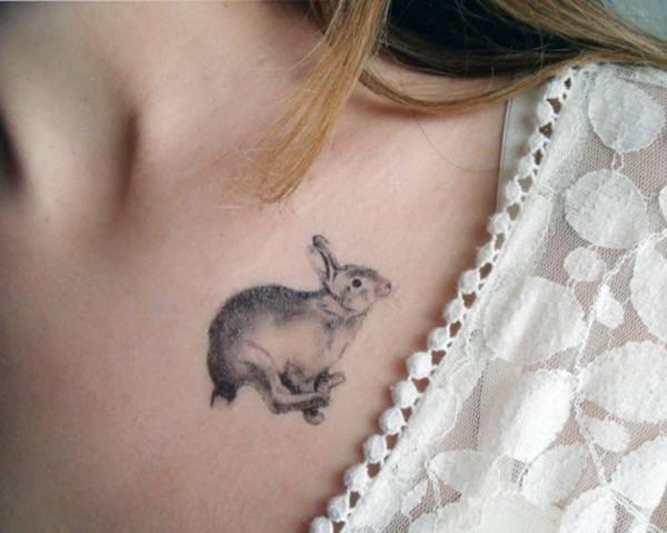 hase an den schultern tattoo ideen