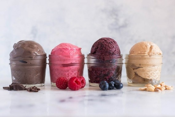 hausgemachtes Joghurteis Frozen Joghurt Rezept ohne Eismaschine