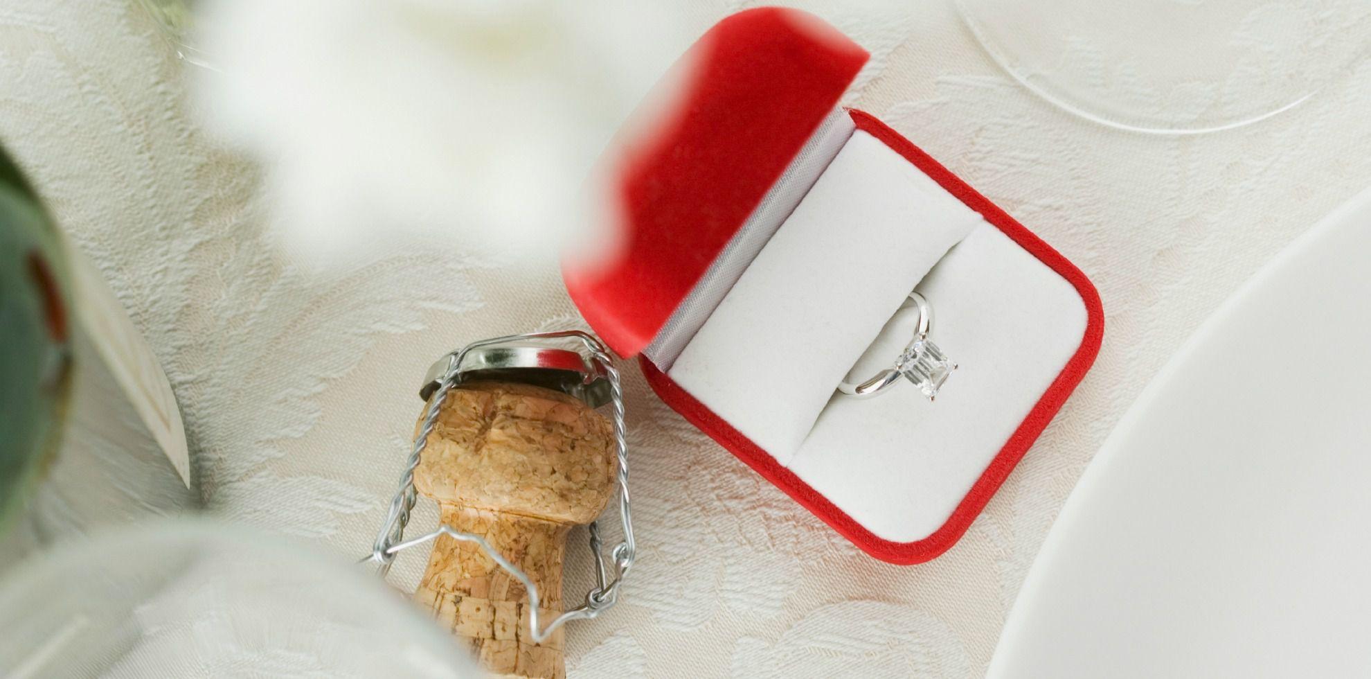 heiratsantrag machen wo trägt man den verlobungsring