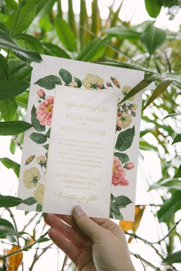 hochzeitstrends 2019 botanical stil hochzeitskarten