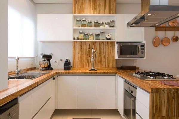 holz und weiße oberflächen Küchentrends 2019