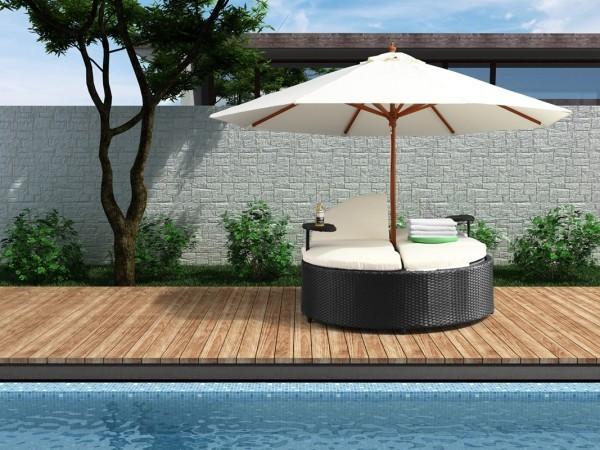 integrierter schirm lounge sessel