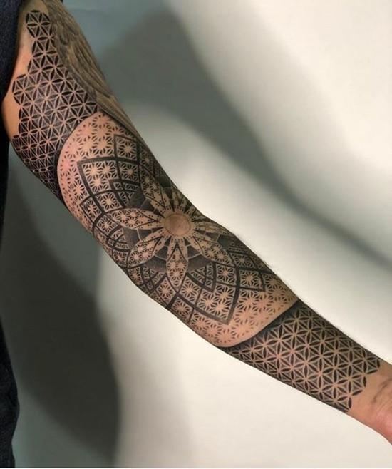 mandala sleeve tattoo ideen