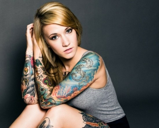 maritime motive sleeve tattoo ideen