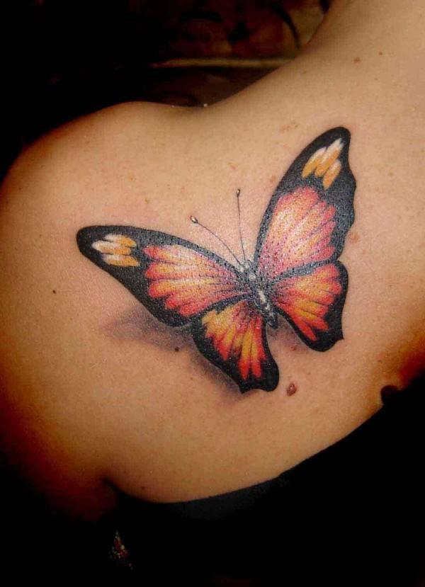 schöner schmetterling tattoo ideen