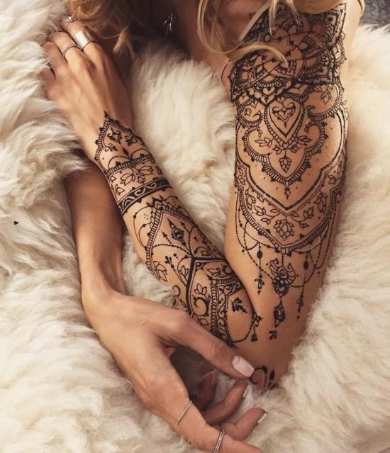 sleeve tattoo ideen für frauen