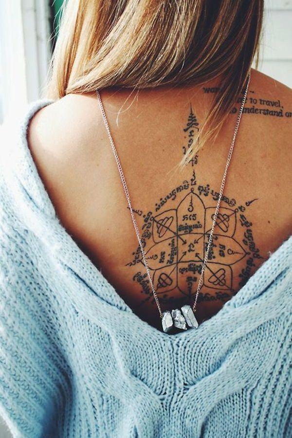tattoo ideen abbildng am rücken