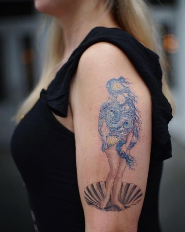 tattoo ideen kleine muschel