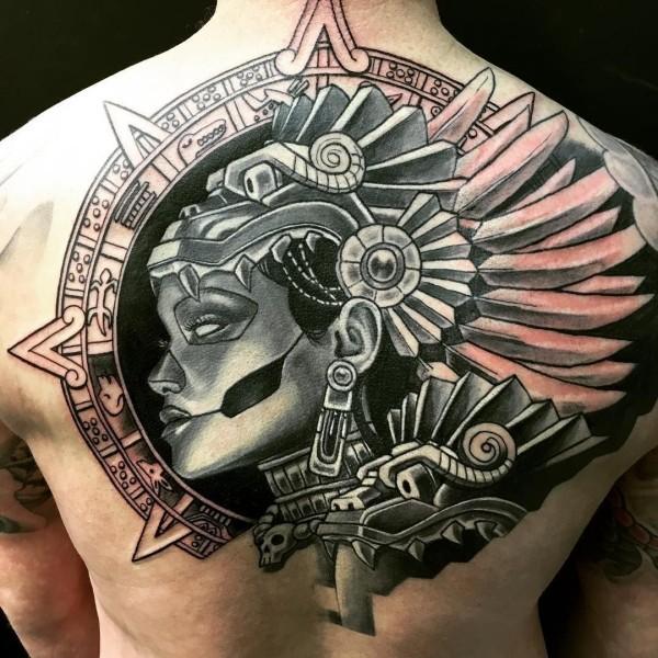 tattoo ideen tolles bild am rücken