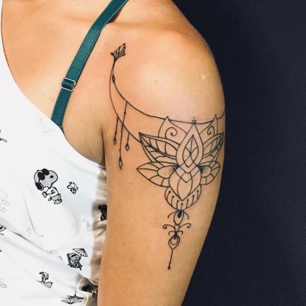 tattoo ideen tolles kleines netz