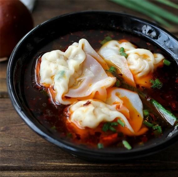 würzige Wan Tan Suppe chinesische Suppe Wan Tan