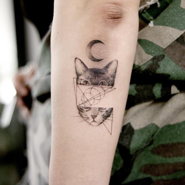 wunderbare katze tattoo ideen