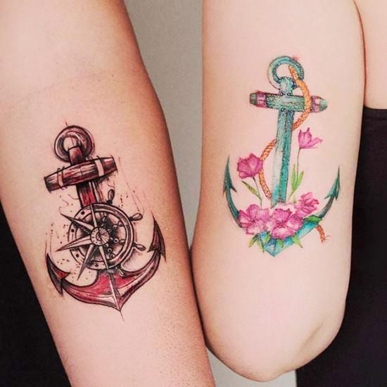 170 kreative Geschwister Tattoo Ideen und Inspirationen anker bruder schwester