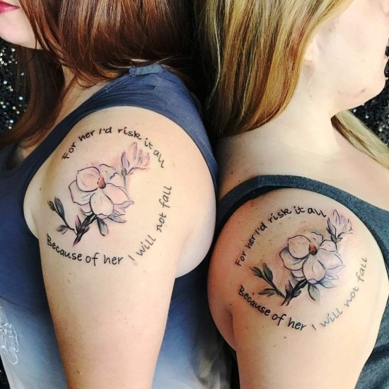 170 kreative Geschwister Tattoo Ideen und Inspirationen blumen und zitat schwester