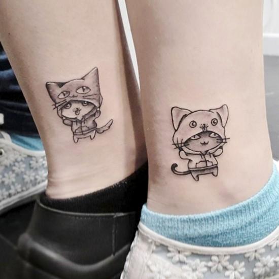 170 kreative Geschwister Tattoo Ideen und Inspirationen bruder schwester katze hund