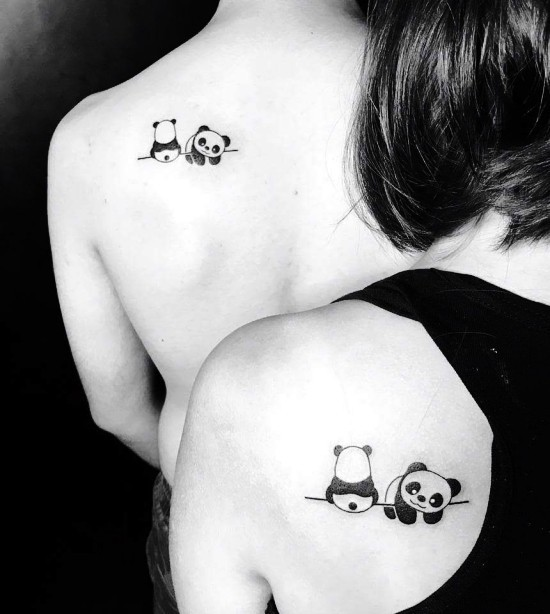 170 kreative Geschwister Tattoo Ideen und Inspirationen bruder schwester panda