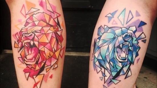 170 kreative Geschwister Tattoo Ideen und Inspirationen bruder tattoo bär gorilla