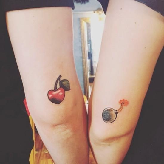 170 kreative Geschwister Tattoo Ideen und Inspirationen cherry bomb kirschbombe
