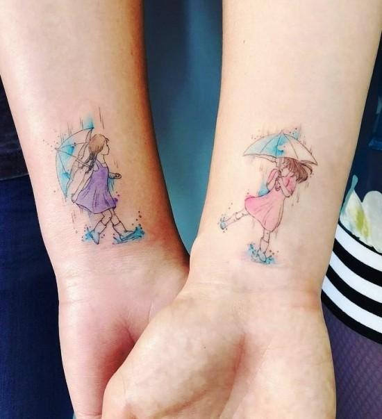 170 kreative Geschwister Tattoo Ideen und Inspirationen dancing in the rain schwester mädchen