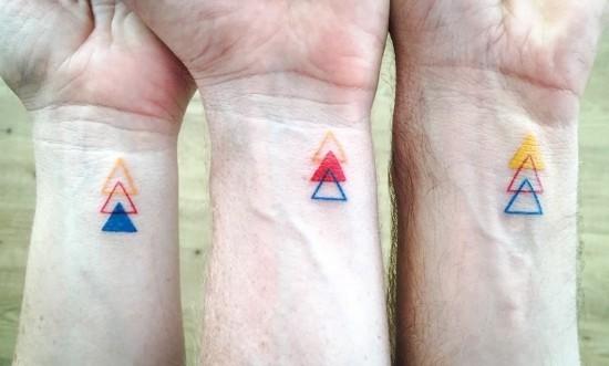 170 kreative Geschwister Tattoo Ideen und Inspirationen drei geschwister dreiecke