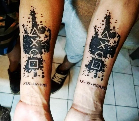 170 kreative Geschwister Tattoo Ideen und Inspirationen gaming bruder kontroller
