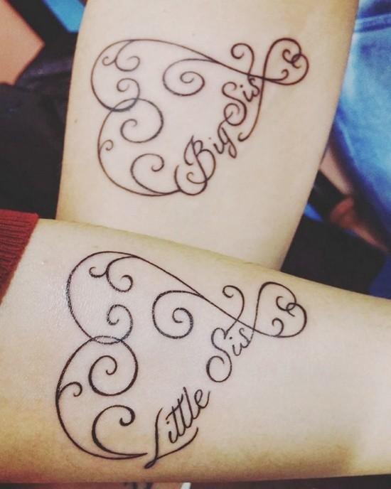 170 kreative Geschwister Tattoo Ideen und Inspirationen herzen große kleine schwester