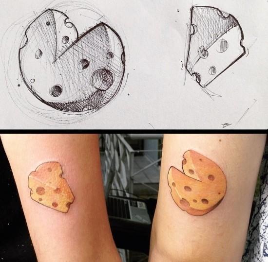 170 kreative Geschwister Tattoo Ideen und Inspirationen käse lustig stückchen des ganzen